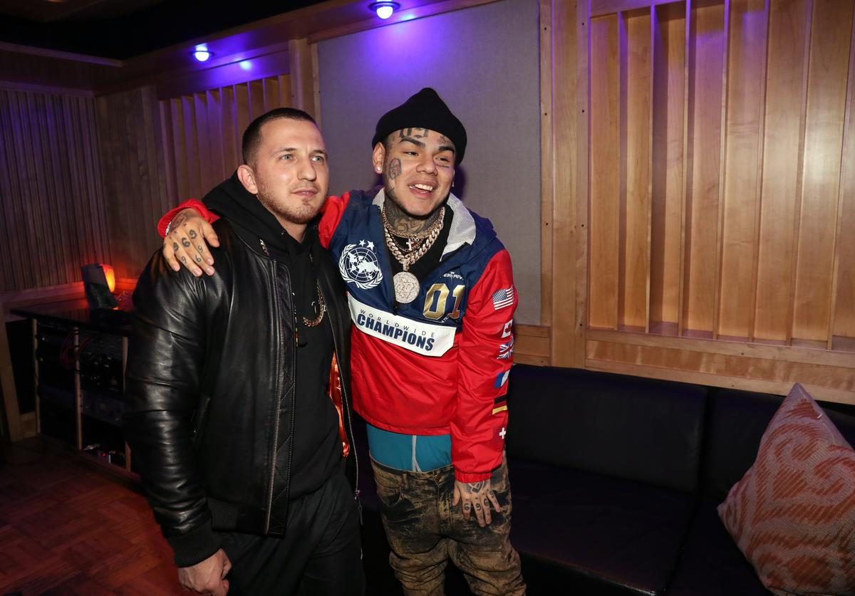 Tekashi 69 attends a Studio Session at Quad Studios