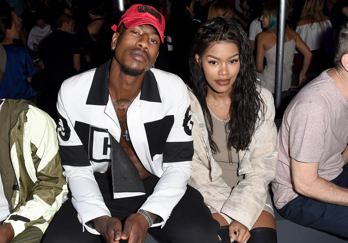 Iman Shumpert and Teyana Taylor attend the Hood By Air fashion show during New York Fashion Week: The Shows at The Arc, Skylight at Moynihan Station on September 11, 2016 in New York City.
