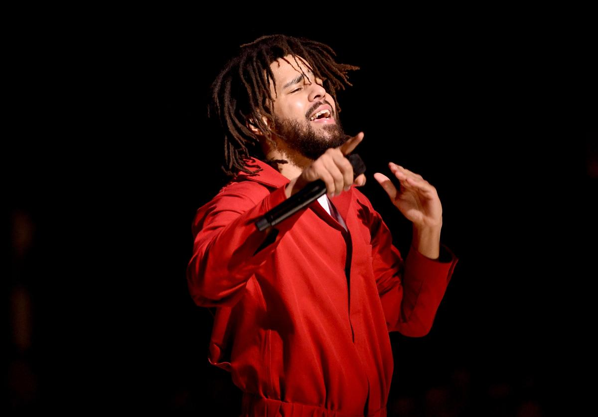 Hip hop artist J. Cole performs at the Forum on July 11, 2017 in Inglewood, California.