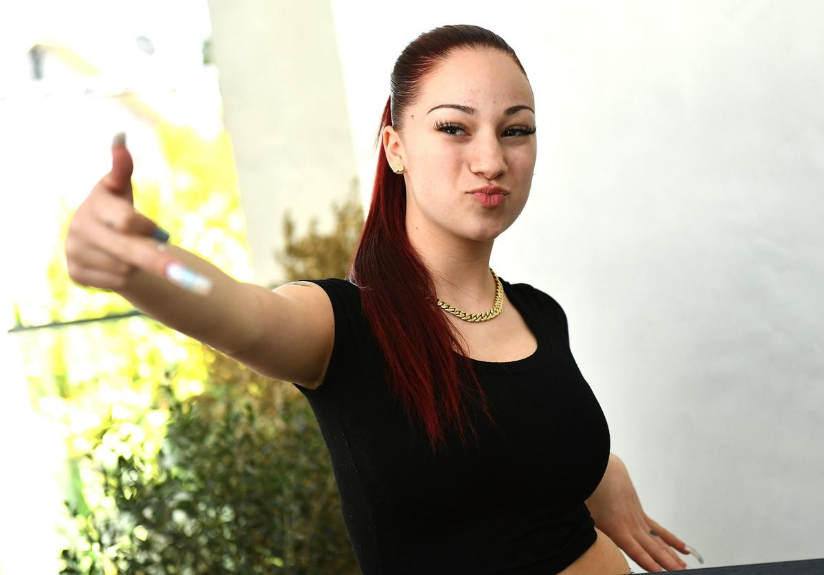 Musician Bhad Bhabie, real name Danielle Bregoli, attends her Gold record presentation for 'Hi Bich' at Los Angeles Recording Studio on March 26, 2018 in Los Angeles, California.