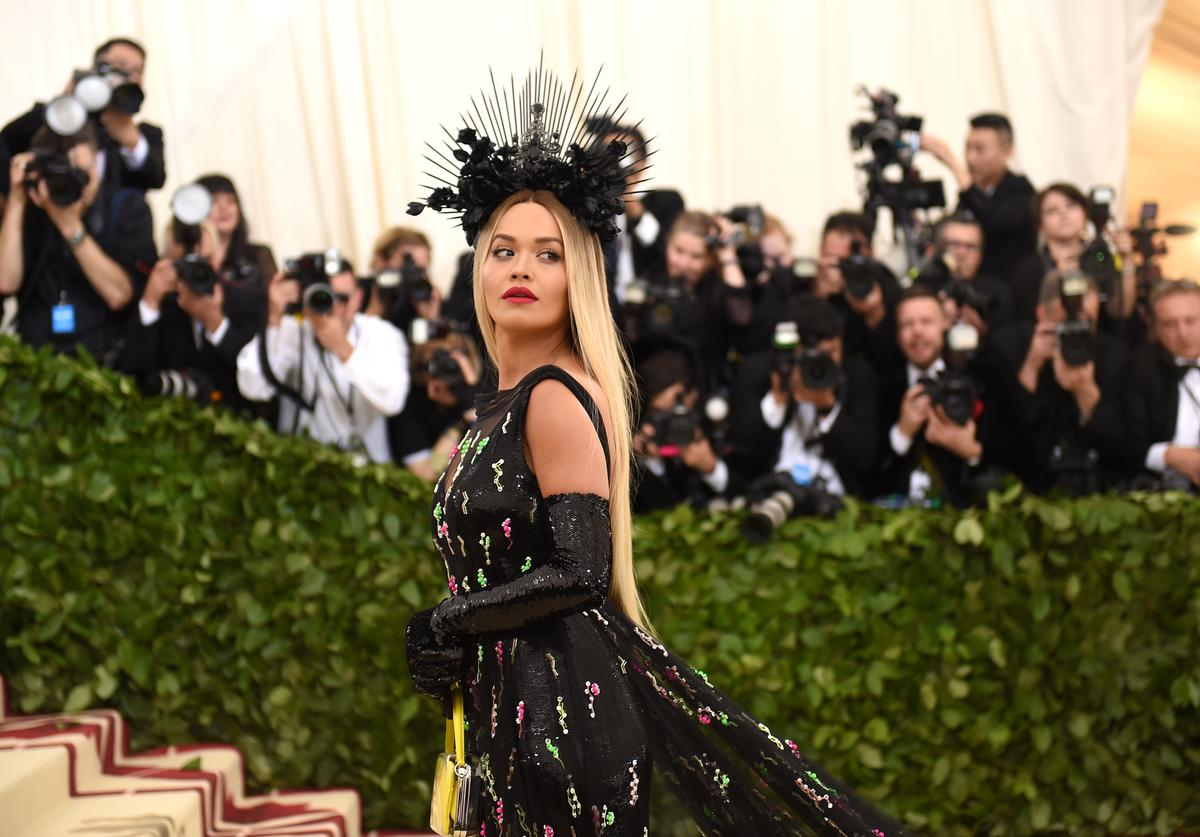 Recording artist Rita Ora attends the Heavenly Bodies: Fashion & The Catholic Imagination Costume Institute Gala at The Metropolitan Museum of Art on May 7, 2018 in New York City.