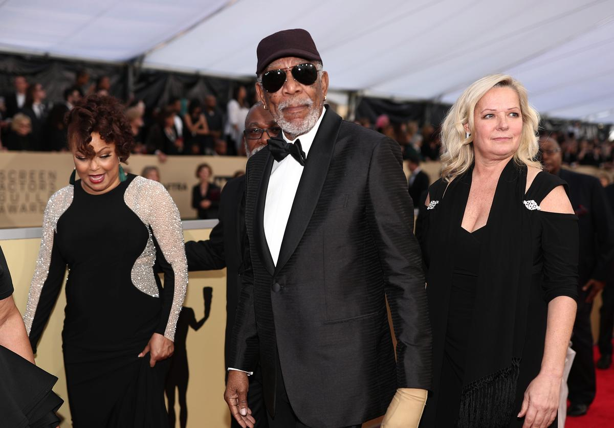 Honoree recipient Morgan Freeman attends the 24th Annual Screen Actors Guild Awards at The Shrine Auditorium on January 21, 2018 in Los Angeles, California.