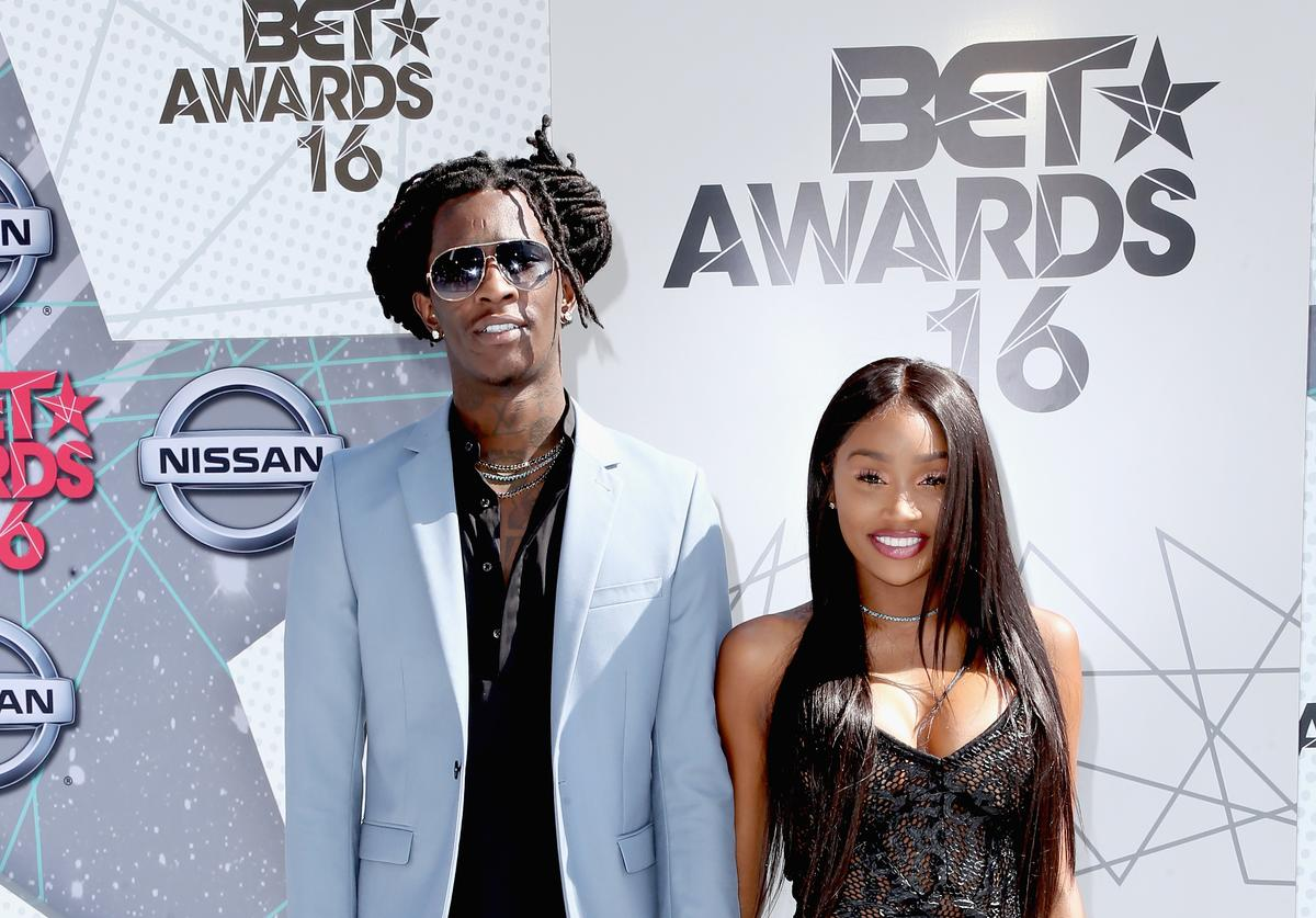 Young Thug (L) and Jerrika Karlae attends the 2016 BET Awards at the Microsoft Theater on June 26, 2016 in Los Angeles, California