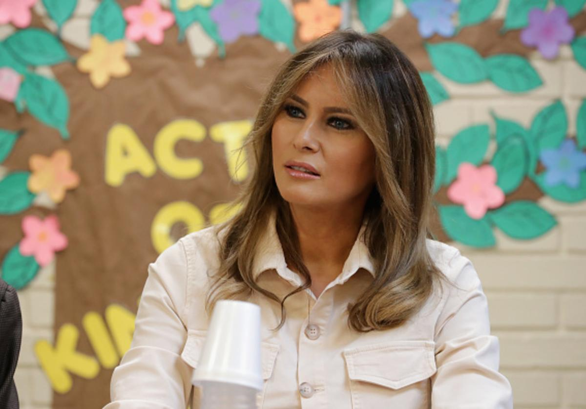 U.S. first lady Melania Trump participates in a round table discussion with doctors and social workers at the Upbring New Hope Childrens Center operated by Lutheran Social Services of the South and contracted with the Department of Health and Human Services June 21, 2018 in McAllen, Texas.