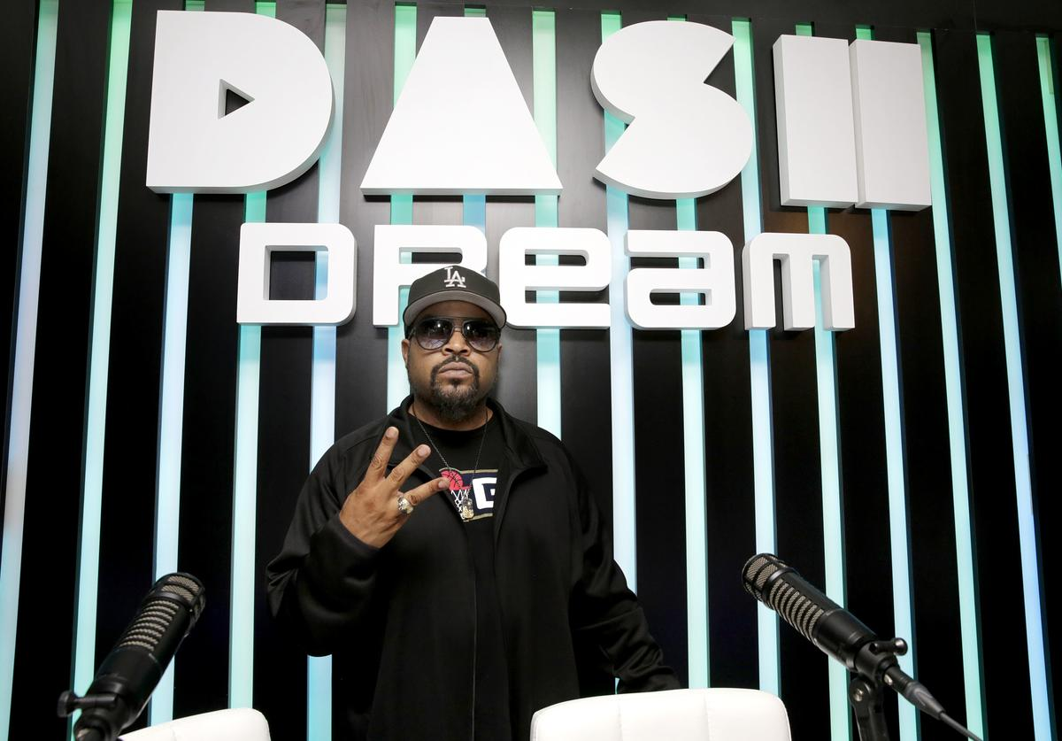 Ice Cube attends the Dream Hollywood x Dash radio launch Music Pop-Up on June 14, 2018 in Los Angeles, California. (