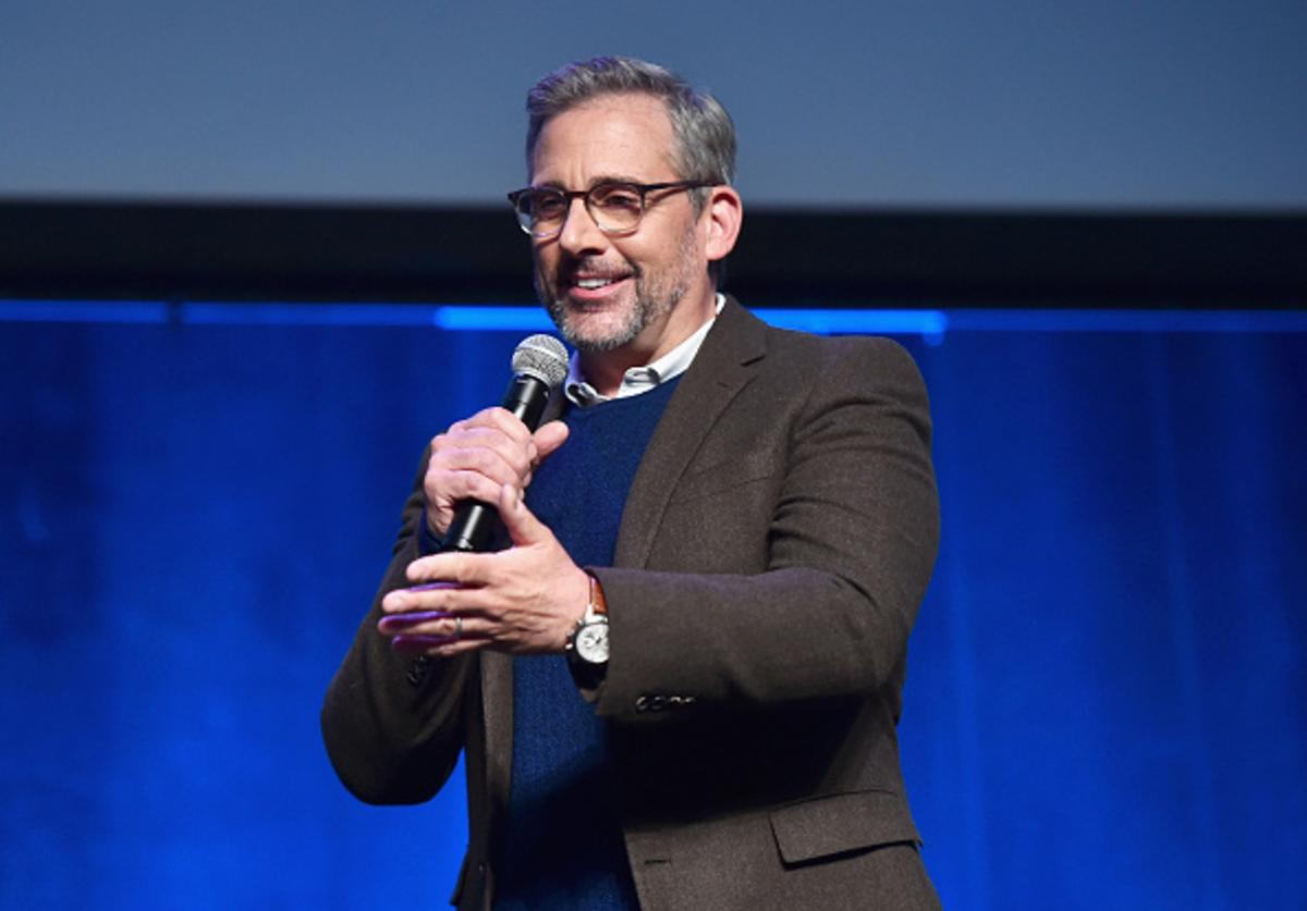 Actor Steve Carell speaks onstage during CinemaCon 2018- Amazon Studios: An Exciting New Year of Great Product for Cinemas Program at Caesars Palace during CinemaCon, the official convention of the National Association of Theatre Owners, on April 26, 2018 in Las Vegas, Nevada.