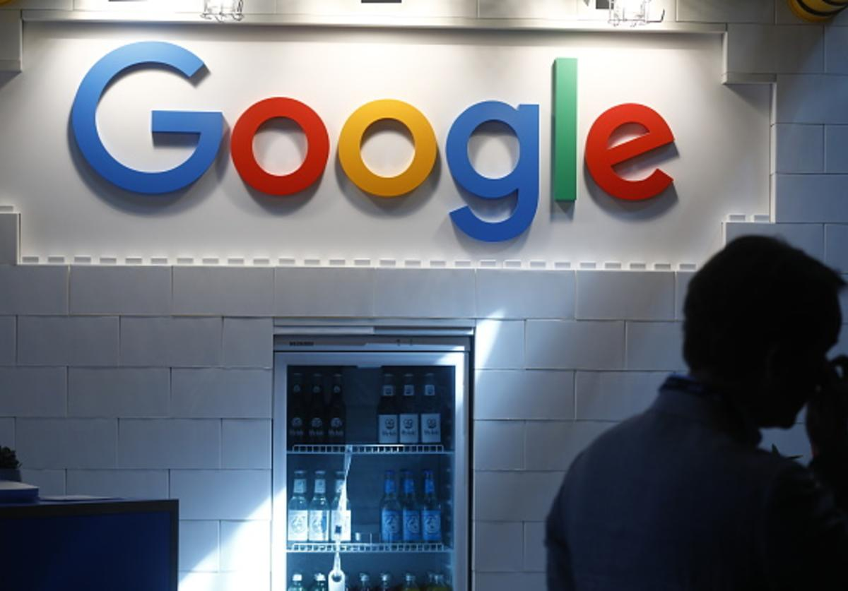The Google logo stands on display at the 2018 NOAH conference on June 6, 2018 in Berlin, Germany. The annual conference brings together established start-up leaders, entrepreneurs, investors and media.