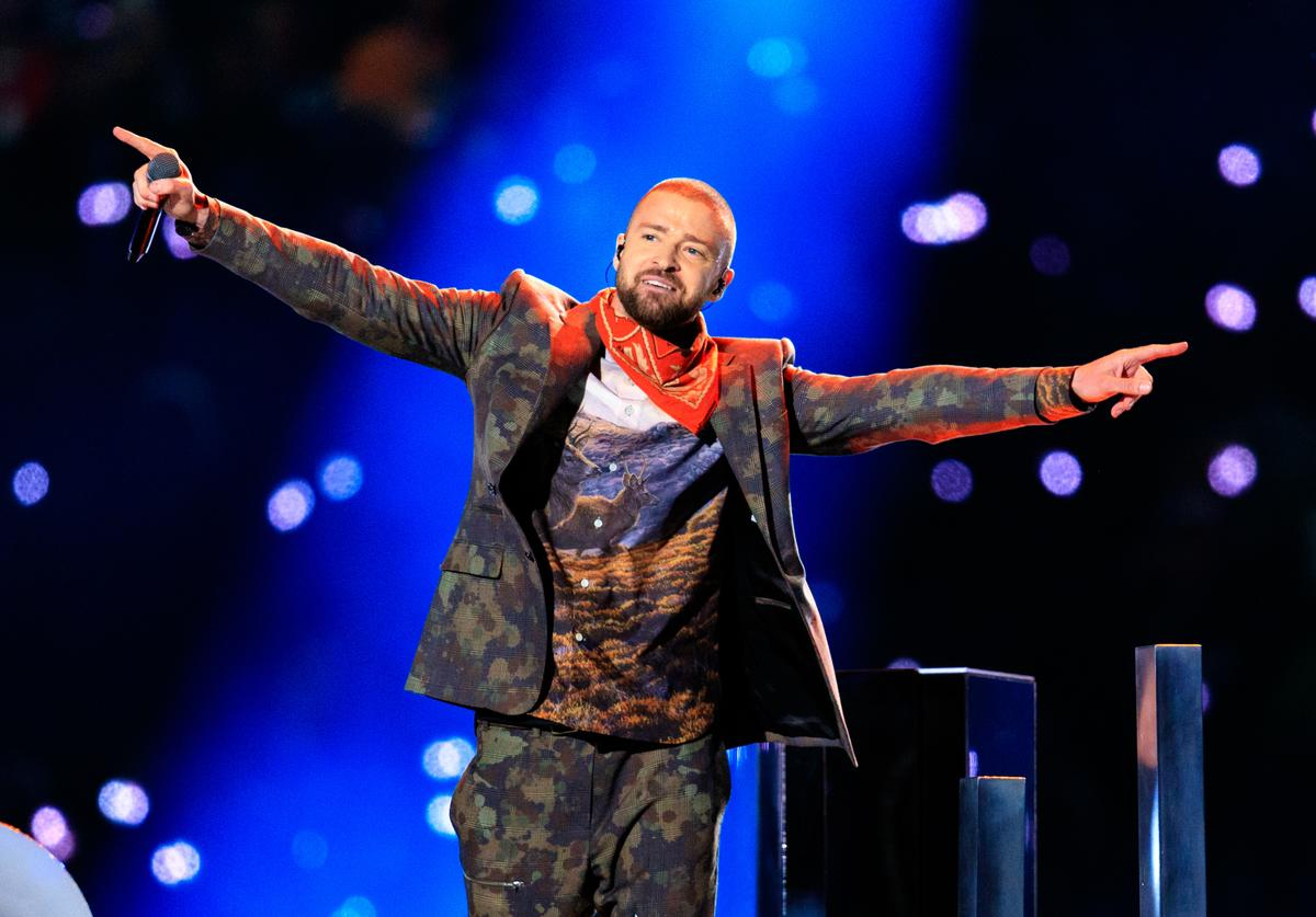 Recording artist Justin Timberlake performs onstage during the Pepsi Super Bowl LII Halftime Show at U.S. Bank Stadium on February 4, 2018 in Minneapolis, Minnesota