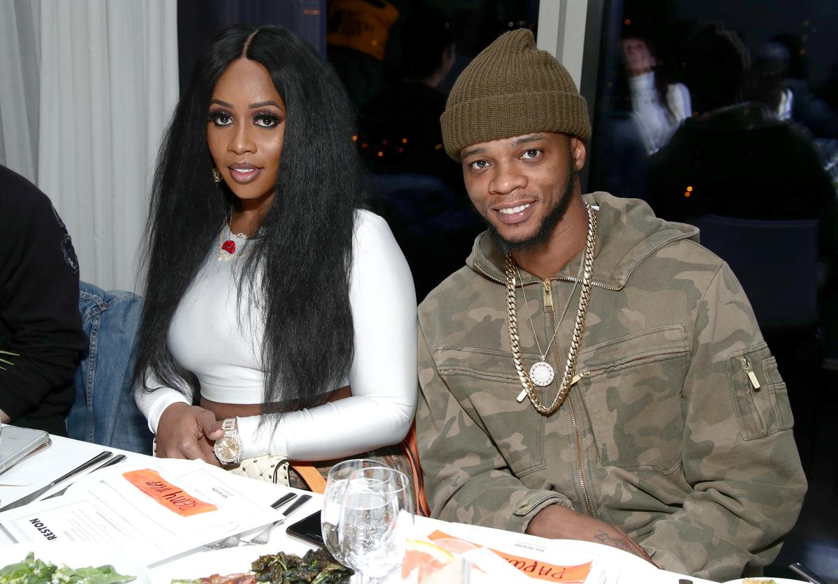 Recording artist Remy Ma and Papoose Mackie attend the Heron Preston + Tequila Avion Dance Party in Celebration Of Heron Preston 'Public Figure' at Public Arts on February 13, 2018 in New York City.