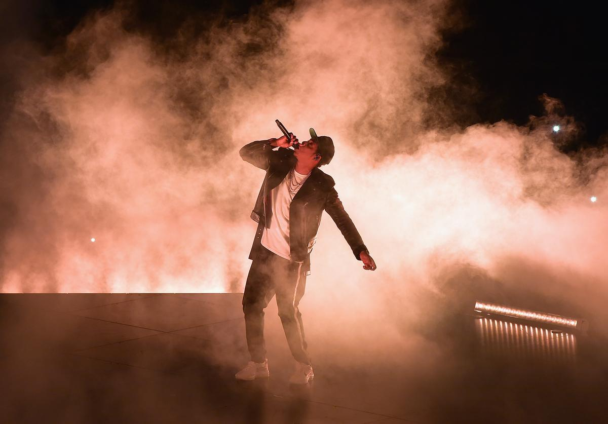 Jay Z performs at the American Airlines Arena on November 12, 2017 in Miami, Florida
