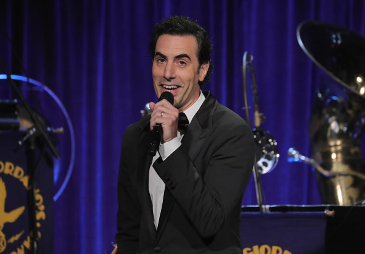 Sacha Baron Cohen onstage at the Friars Club Honoring Martin Scorsese With the Entertainment Icon Award at Cipriani Wall Street on September 21, 2016 in New York City.
