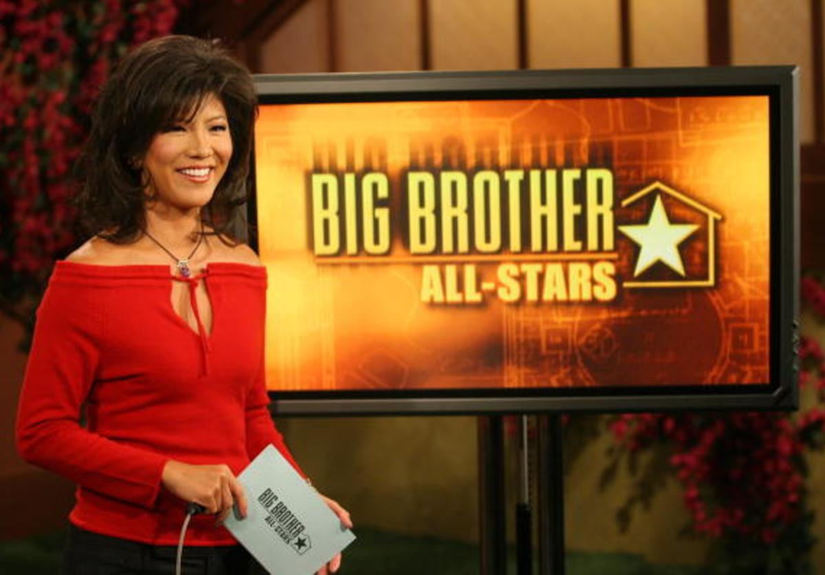 Host Julie Chen speaks after Janelle Pierzina, the 26-year-old VIP cocktail waitress currently living in Miami Beach, Florida became the 12th and final houseguest to be evicted from the Big Brother house during the live broadcast of the CBS reality series BIG BROTHER: ALL-STARS September 7, 2006 in Los Angeles, California.