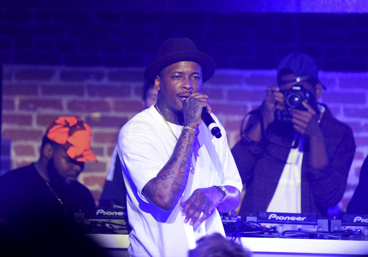 YG performs during adidas Be The Difference LA on July 15, 2015 in Los Angeles, California
