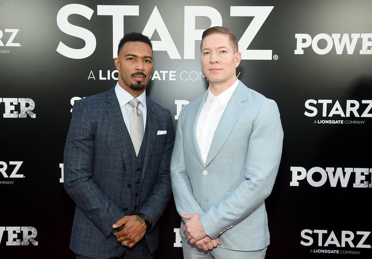 Omari Hardwick and Joseph Sikora attend the Starz 'Power' The Fifth Season NYC Red Carpet Premiere Event & After Party on June 28, 2018 in New York City