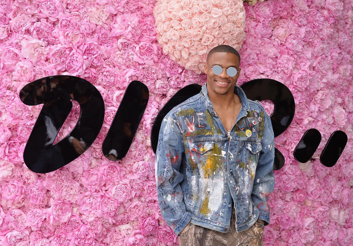 Russell Westbrook attends the Dior Homme Menswear Spring/Summer 2019 show as part of Paris Fashion Week on June 23, 2018 in Paris, France.