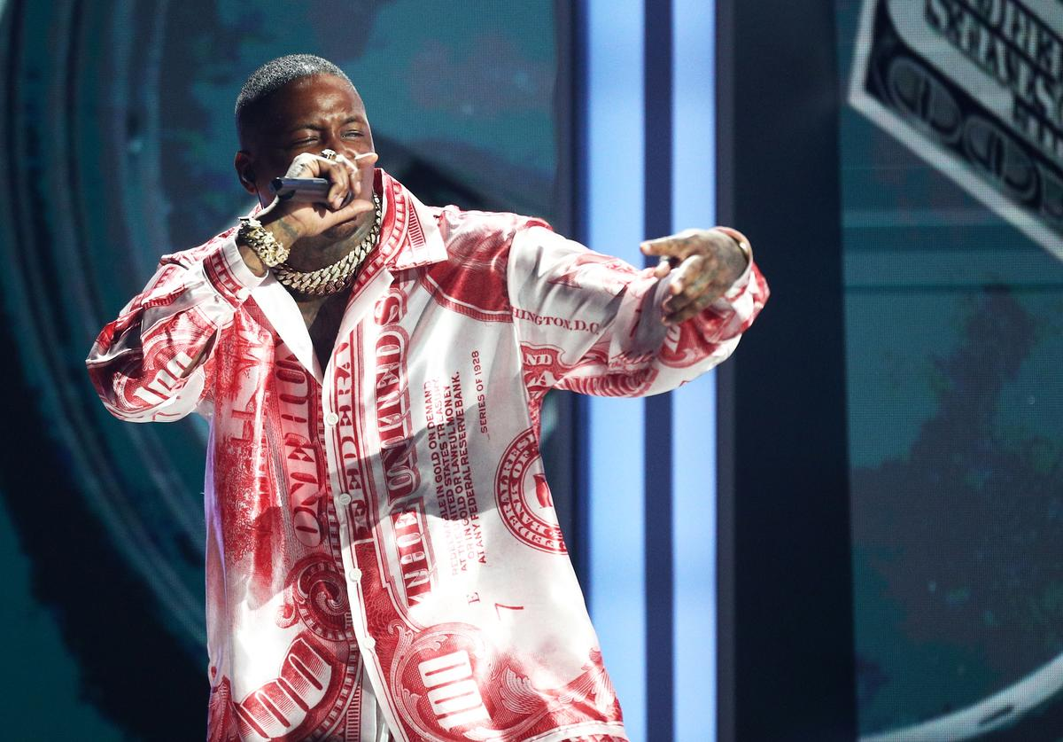 YG performs onstage at the 2018 BET Awards at Microsoft Theater on June 24, 2018 in Los Angeles, California.