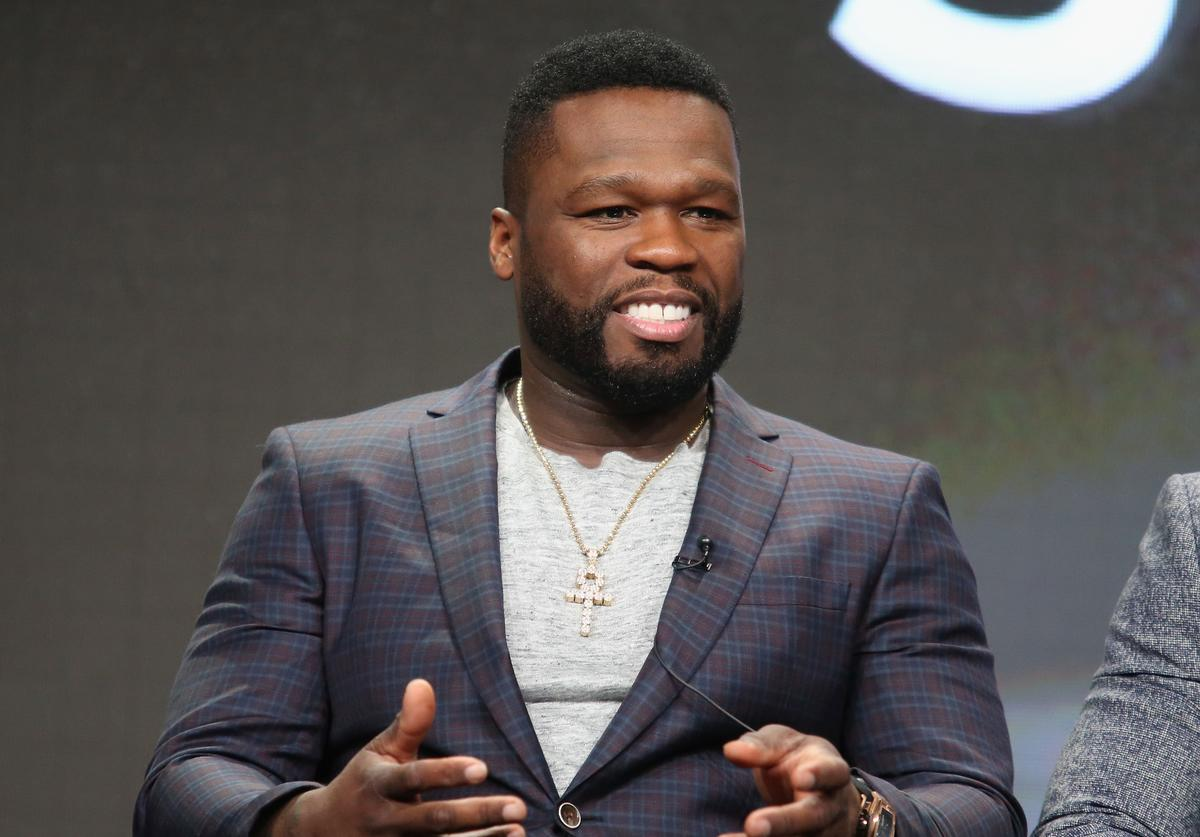 50 Cent' Jackson speaks onstage during the 'Power' panel discussion at the Starz portion of the 2016 Television Critics Association Summer Tour at The Beverly Hilton Hotel on August 1, 2016 in Beverly Hills, California