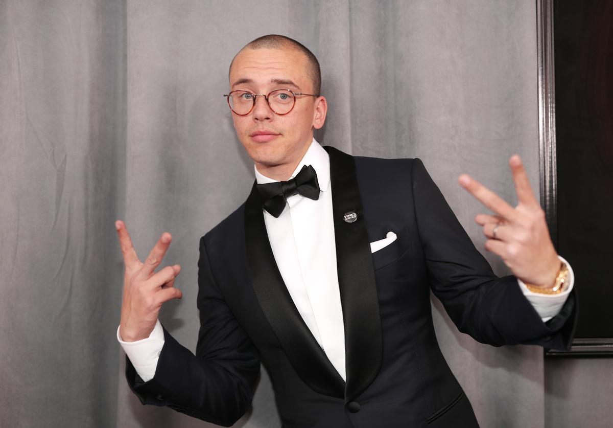 Recording artist Logic attends the 60th Annual GRAMMY Awards at Madison Square Garden on January 28, 2018 in New York City.