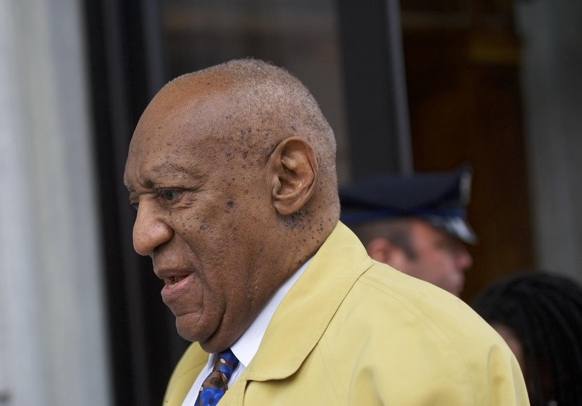 Bill Cosby departs the Montgomery County Courthouse after the twelfth day of his sexual assault retrial on April 24, 2018 in Norristown, Pennsylvania