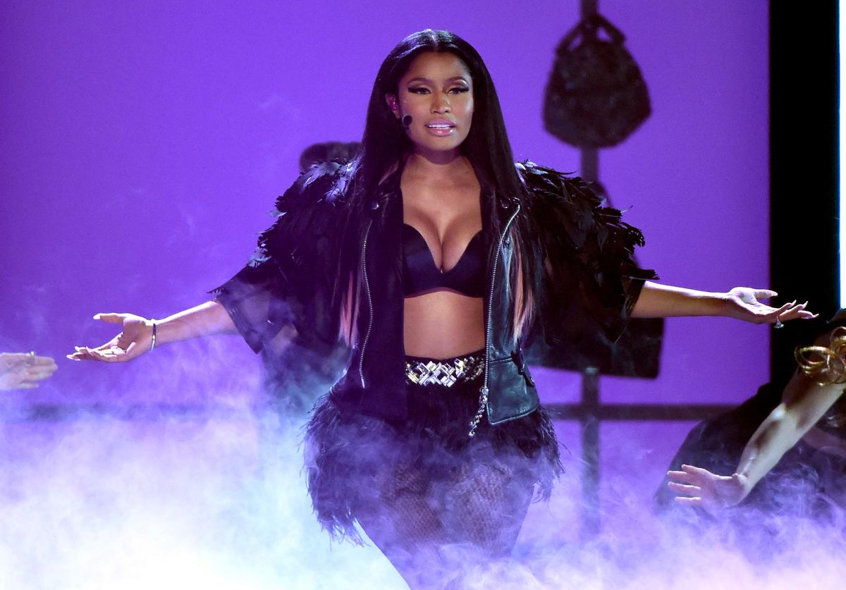 Nicki Minaj performs onstage during the 2015 Billboard Music Awards at MGM Grand Garden Arena on May 17, 2015 in Las Vegas, Nevada
