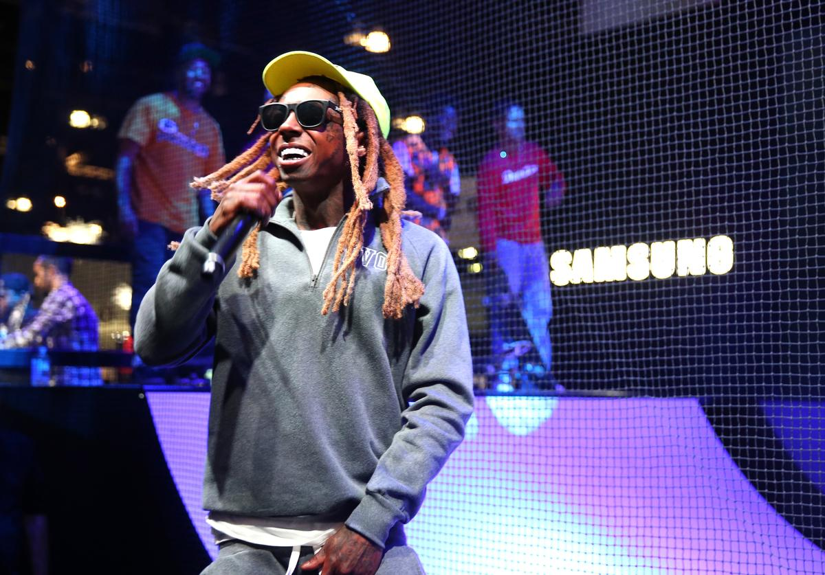 Lil Wayne performs onstage at the Samsung booth at E3 Expo 2016 on June 15, 2016 in Los Angeles, California