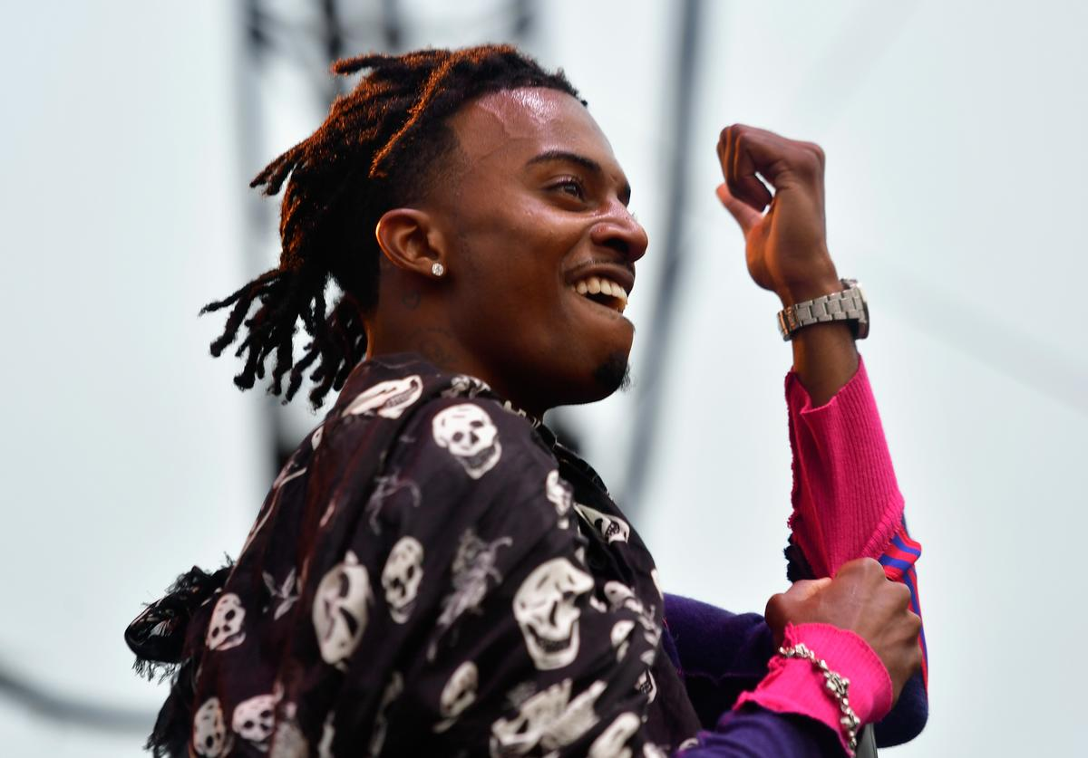 Playboi Carti performs on the Flog Stage during day 2 of Camp Flog Gnaw Carnival 2017 at Exposition Park on October 29, 2017 in Los Angeles, California.