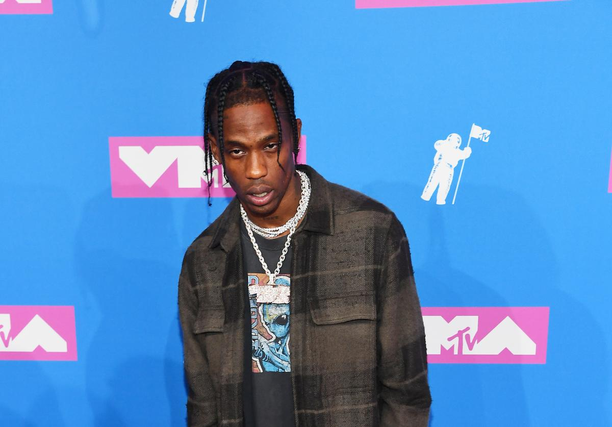 Travis Scott attends the 2018 MTV Video Music Awards at Radio City Music Hall on August 20, 2018 in New York City