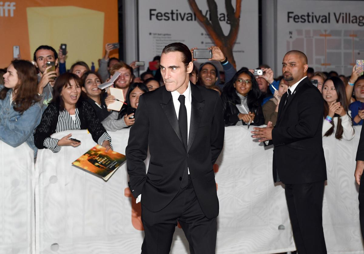 Joaquin Phoenix attends the 'The Sisters Brothers' premiere during 2018 Toronto International Film Festival at Princess of Wales Theatre on September 8, 2018 in Toronto, Canada.