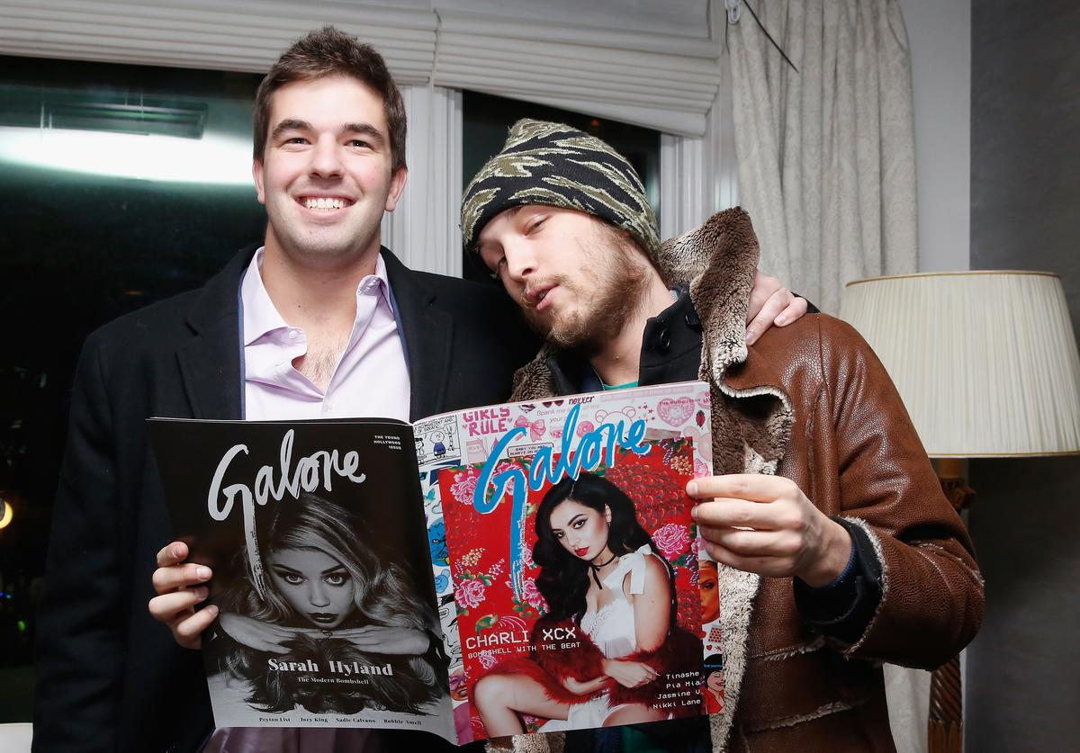 Billy McFarland (L) and Liam McMullan attends Galore X Magnises Fashion Week Valentines Day Dinner at Magnises Townhouse on February 14, 2015 in New York City