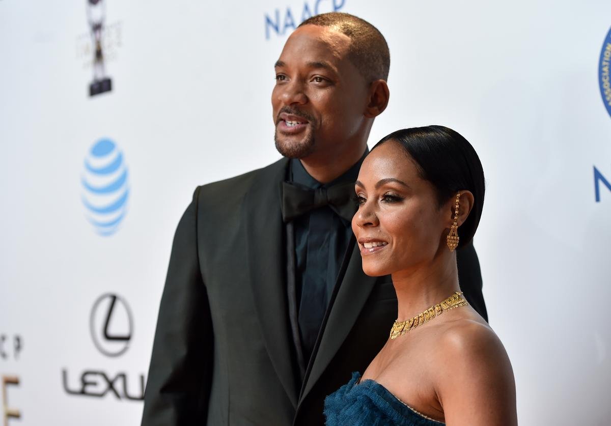 Will Smith (L) and actress Jada Pinkett Smith attend the 47th NAACP Image Awards presented by TV One at Pasadena Civic Auditorium on February 5, 2016 in Pasadena, California