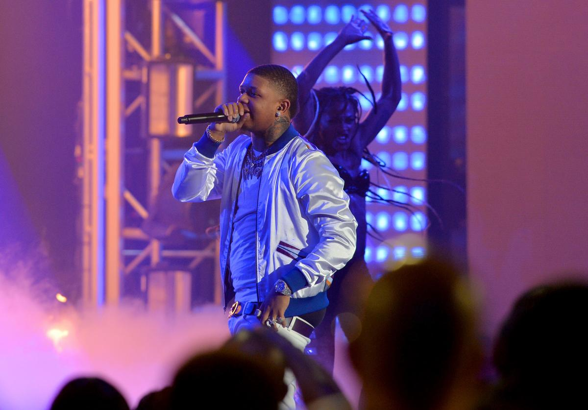 Yella Beezy onstage during the BET Hip Hop Awards 2018 at Fillmore Miami Beach on October 6, 2018 in Miami Beach, Florida