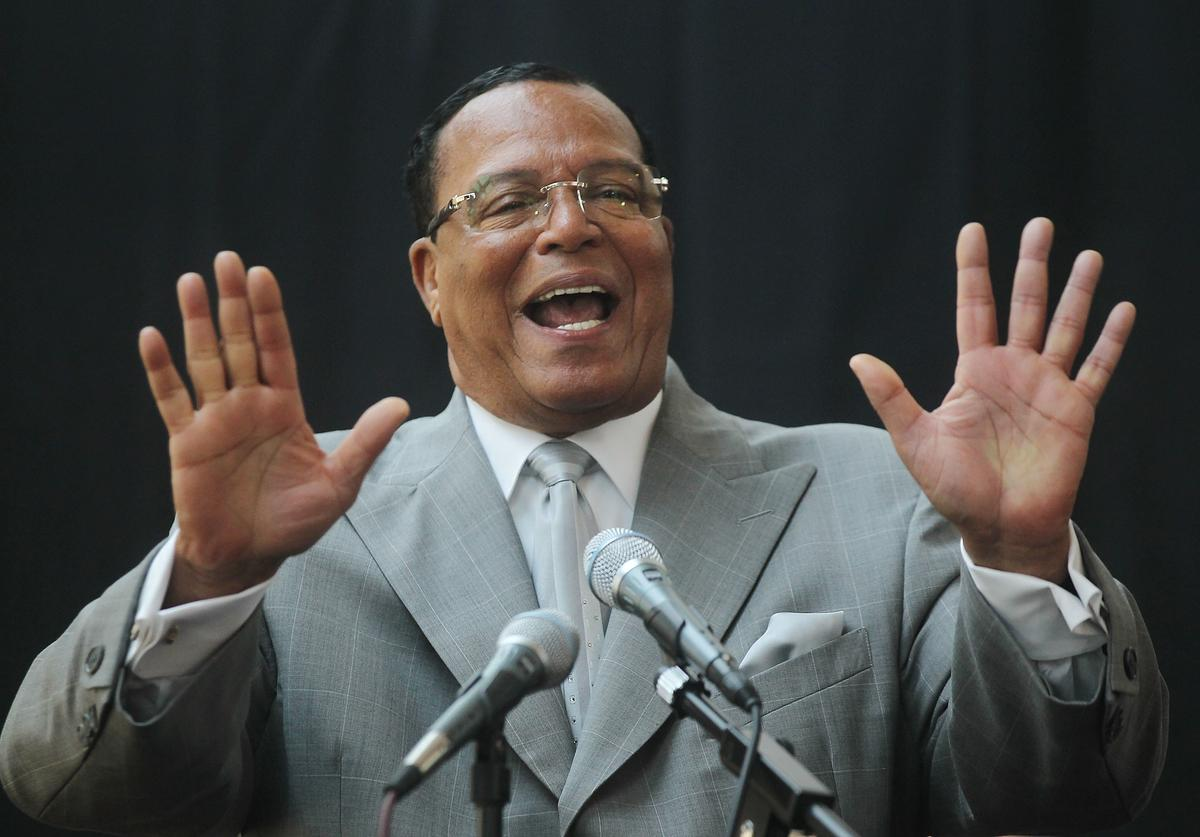 Minister Louis Farrakhan, leader of the Nation of Islam, speaks at a press conference near United Nations headquarters on June 15, 2011 in New York City.