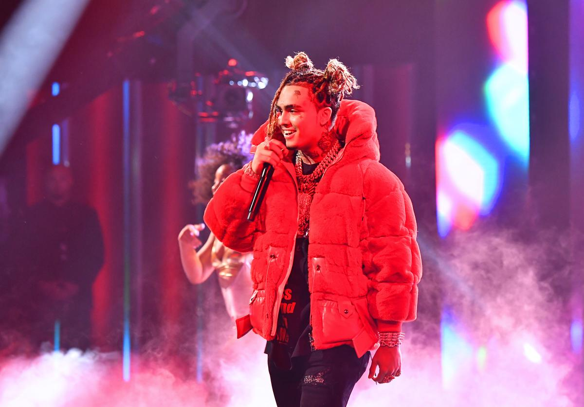 Lil Pump performs onstage during the BET Hip Hop Awards 2018 at Fillmore Miami Beach on October 6, 2018 in Miami Beach, Florida