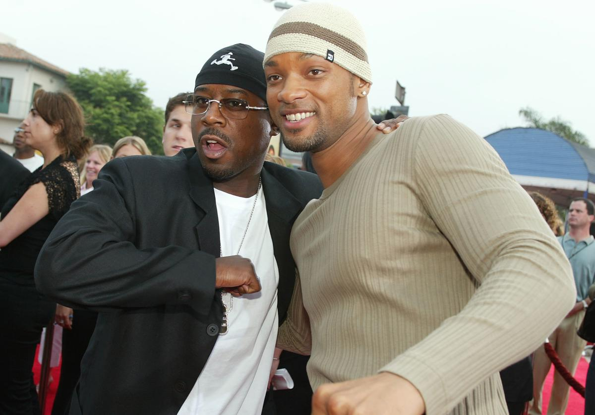 Martin Lawrence and Will Smith attend the 'Bad Boys II' movie premiere at the Mann's Village theatre on July 9, 2003 in Westwood, California