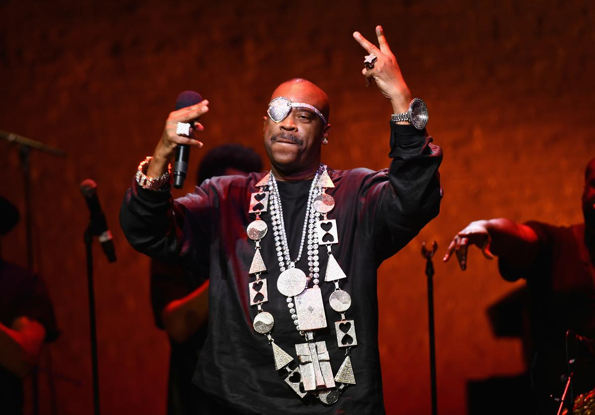 Slick Rick performs onstage during Global Citizen Week: At What Cost? at The Apollo Theater on September 23, 2018 in New York City