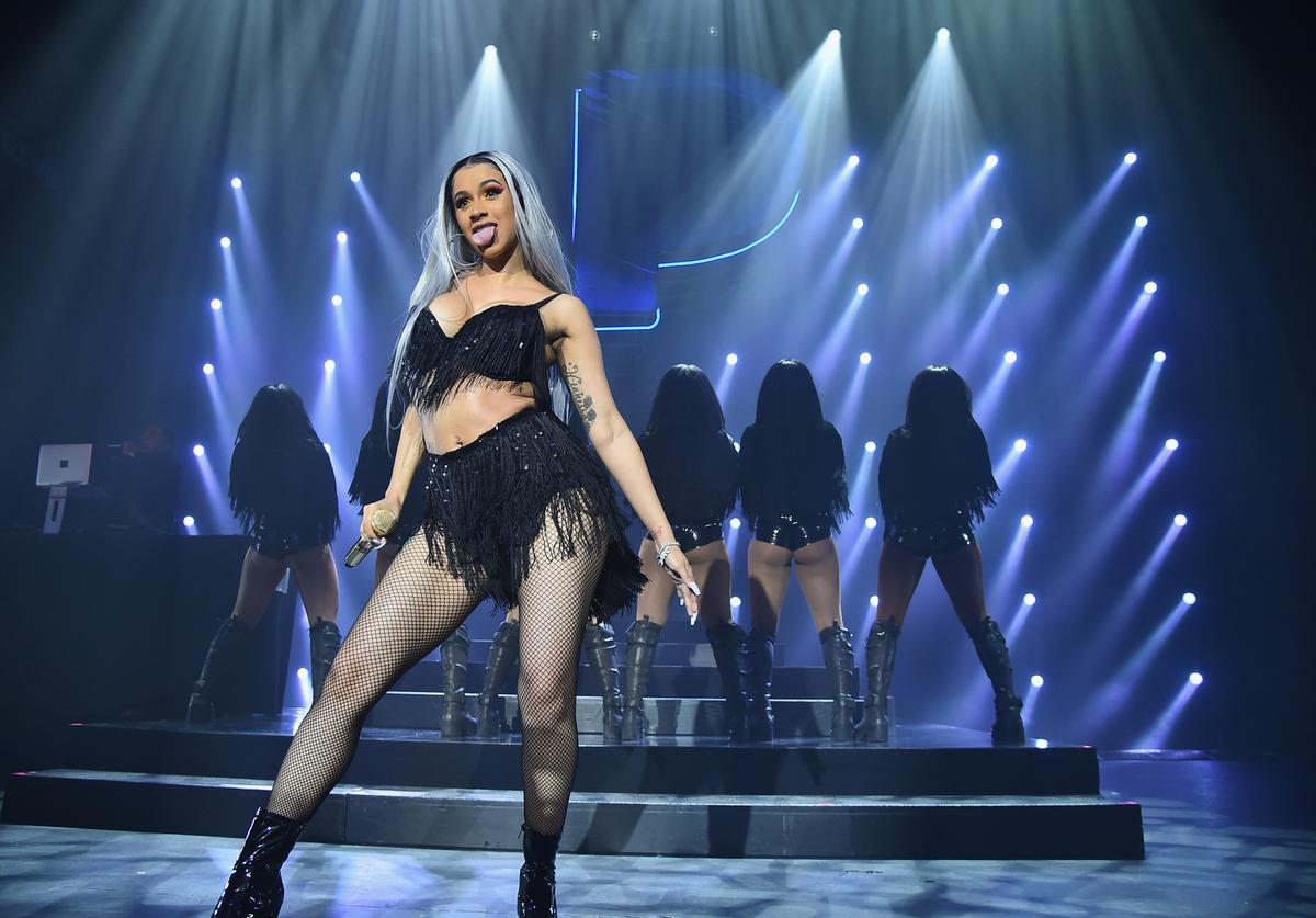 Cardi B performs on stage at Pandora Presents Beyond 2018 on November 13, 2018 in New York City