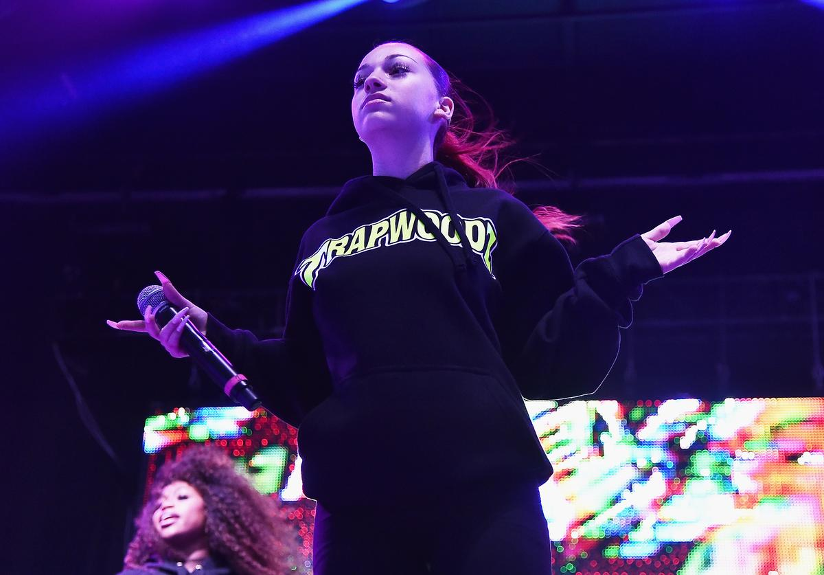 Bhad Bhabie performs onstage during Day 2 of Billboard Hot 100 Festival 2018 at Northwell Health at Jones Beach Theater on August 19, 2018 in Wantagh, New York.
