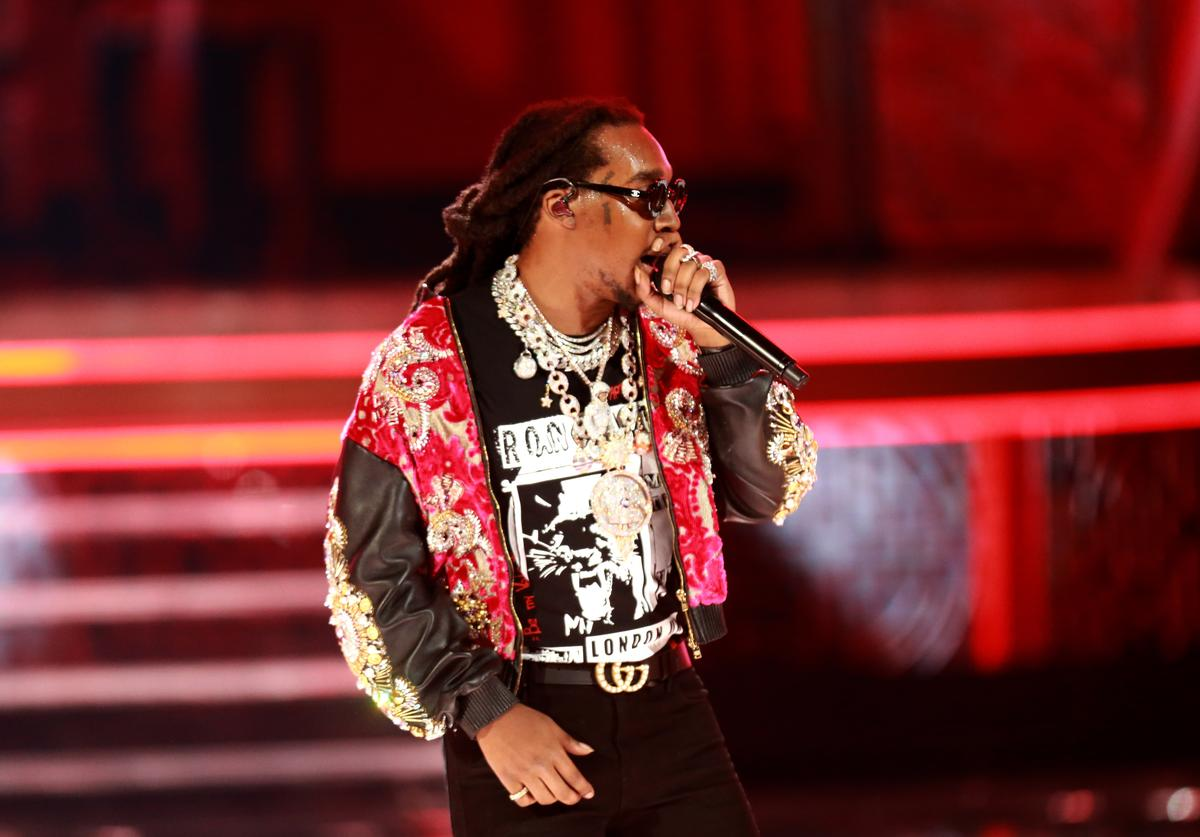 Takeoff of Migos performs onstage at the 2018 BET Awards at Microsoft Theater on June 24, 2018 in Los Angeles, California