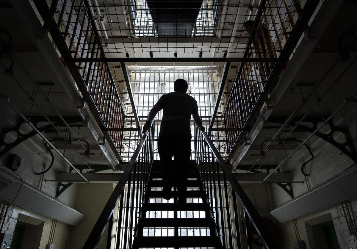 A general view inside the former Reading prison building on September 1, 2016 in Reading, England.