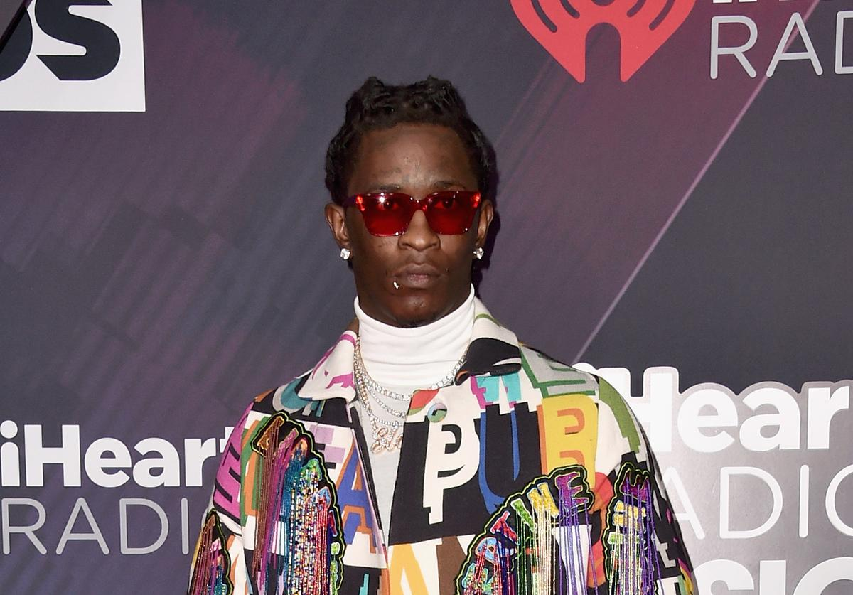 Young Thug arrives at the 2018 iHeartRadio Music Awards which broadcasted live on TBS, TNT, and truTV at The Forum on March 11, 2018 in Inglewood, California