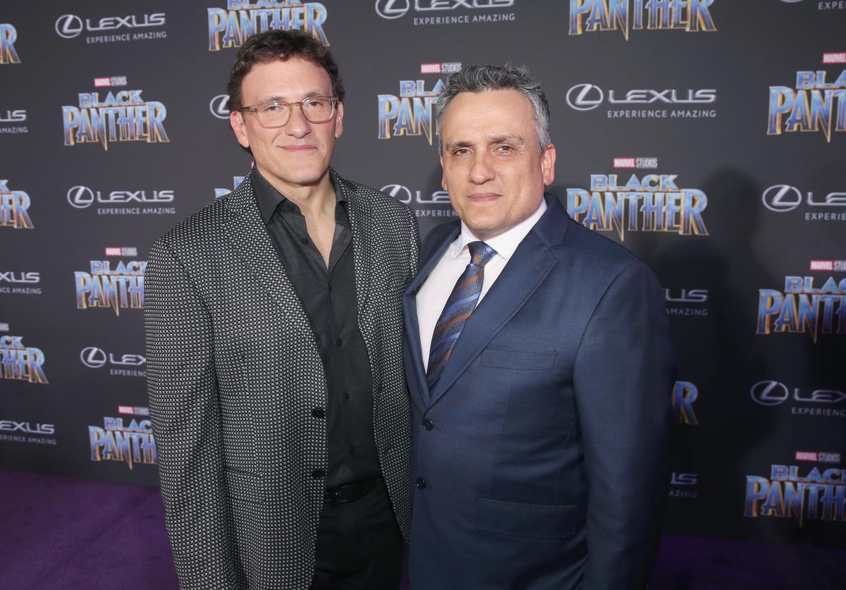 : Directors Anthony Russo (L) and Joe Russo at the Los Angeles World Premiere of Marvel Studios' BLACK PANTHER at Dolby Theatre on January 29, 2018 in Hollywood, California.