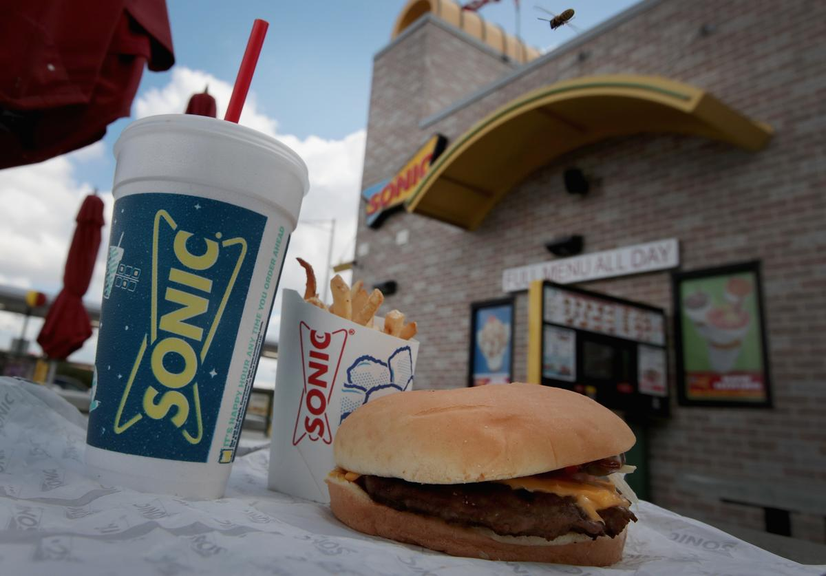Food is served at a Sonic restaurant on September 25, 2018 in Cicero, Illinois