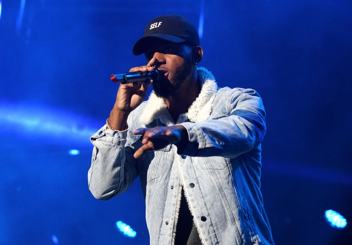Bryson Tiller performs onstage at night two of the STAPLES Center Concert, presented by Coca-Cola, during the 2017 BET Experience at LA Live on June 23, 2017 in Los Angeles, California