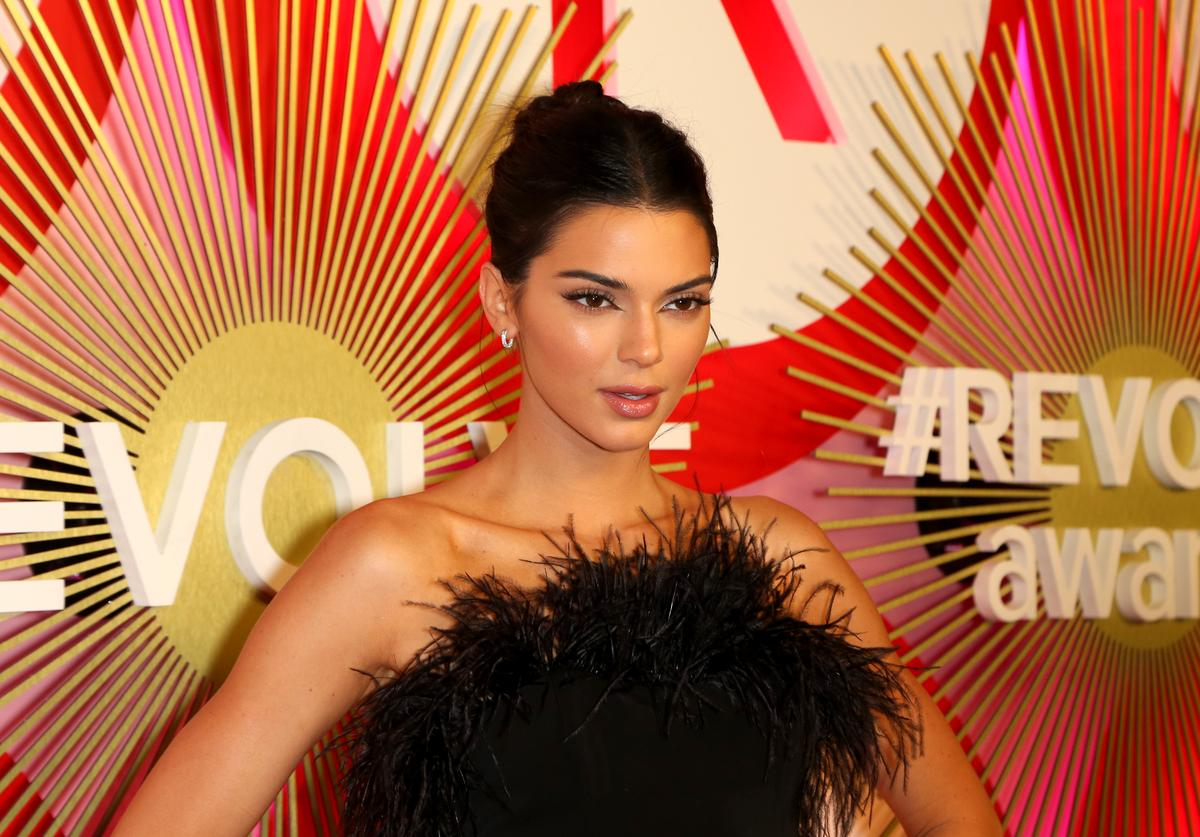 Model and television personality Kendall Jenner attends Revolve's second annual #REVOLVEawards at Palms Casino Resort on November 9, 2018 in Las Vegas, Nevada.