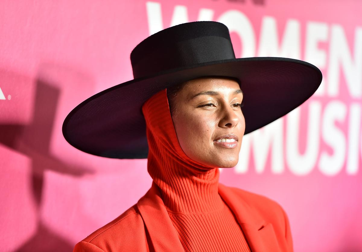 Alicia Keys attends Billboard's 13th Annual Women In Music Event at Pier 36 on December 6, 2018 in New York City