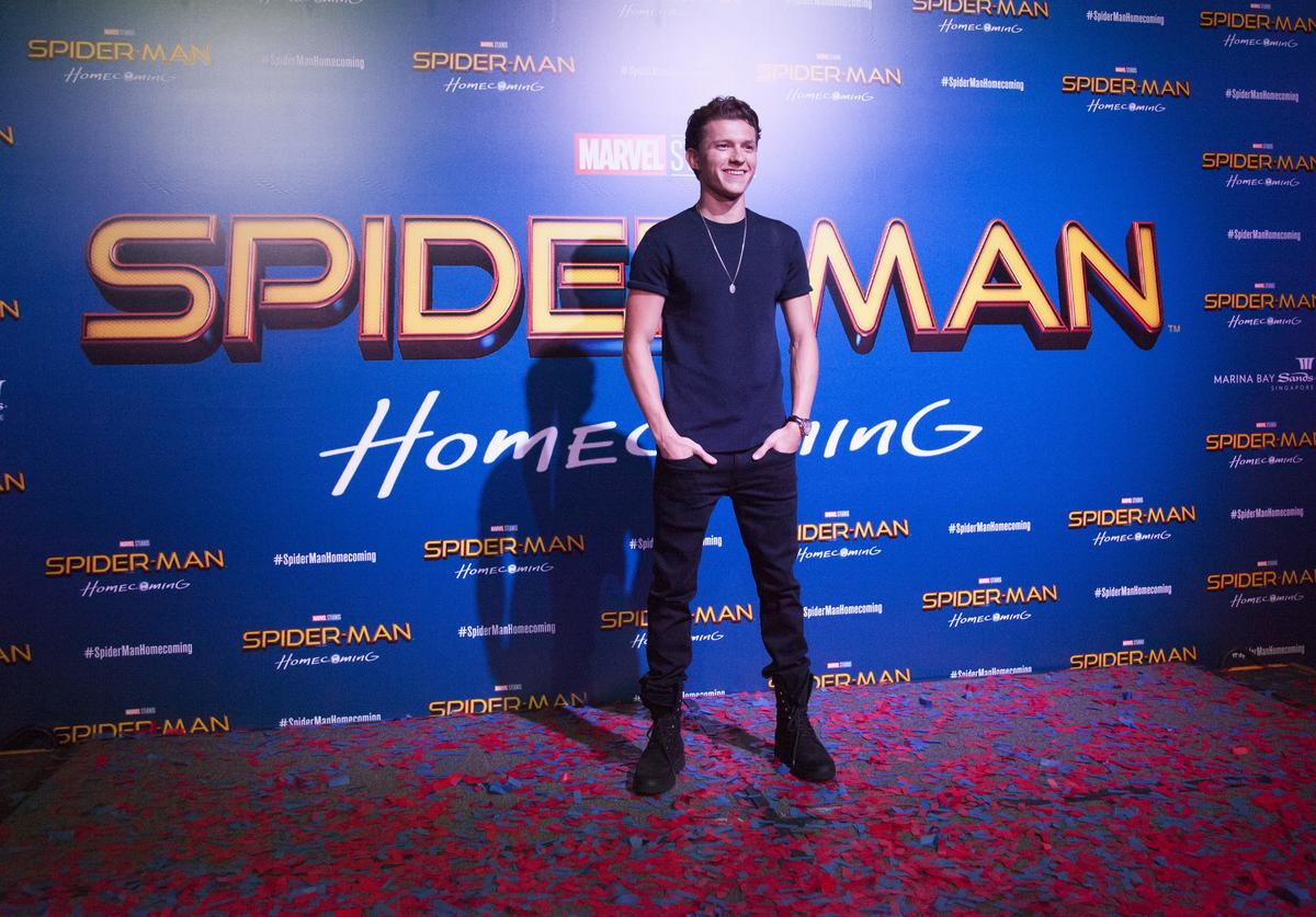 Actor Tom Holland poses during the 'Spider-Man: Homecoming' event at Marina Bay Sands on June 6, 2017 in Singapore.