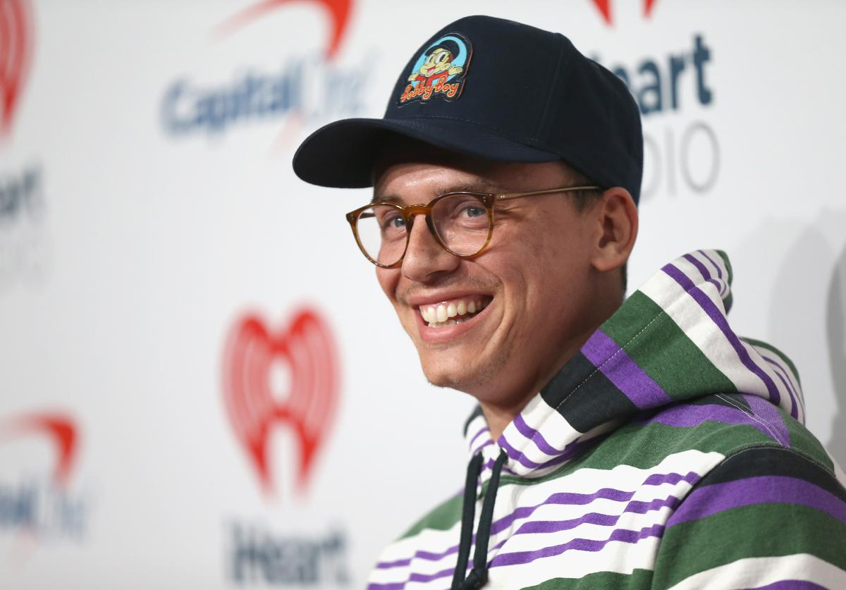 Logic attends the 2018 iHeartRadio Music Festival at T-Mobile Arena on September 22, 2018 in Las Vegas, Nevada