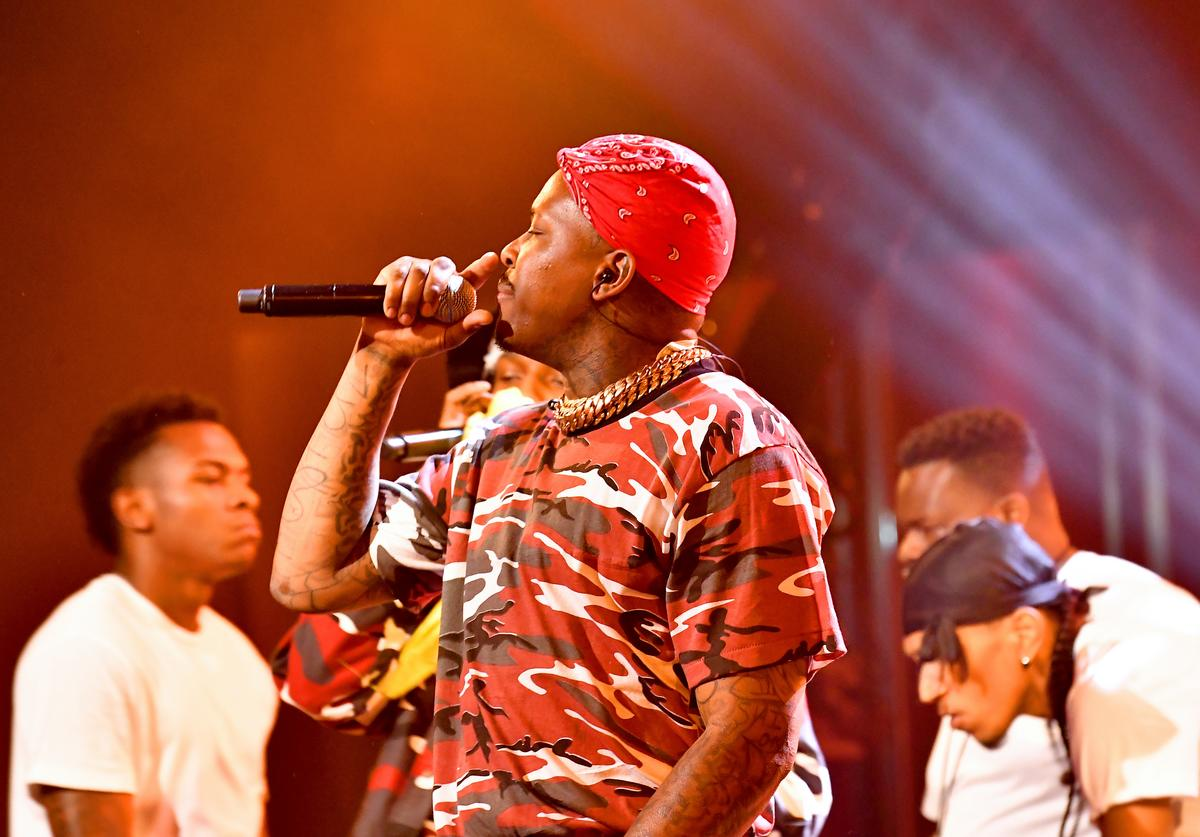 YG performs onstage during the BET Hip Hop Awards 2018 at Fillmore Miami Beach on October 6, 2018 in Miami Beach, Florida