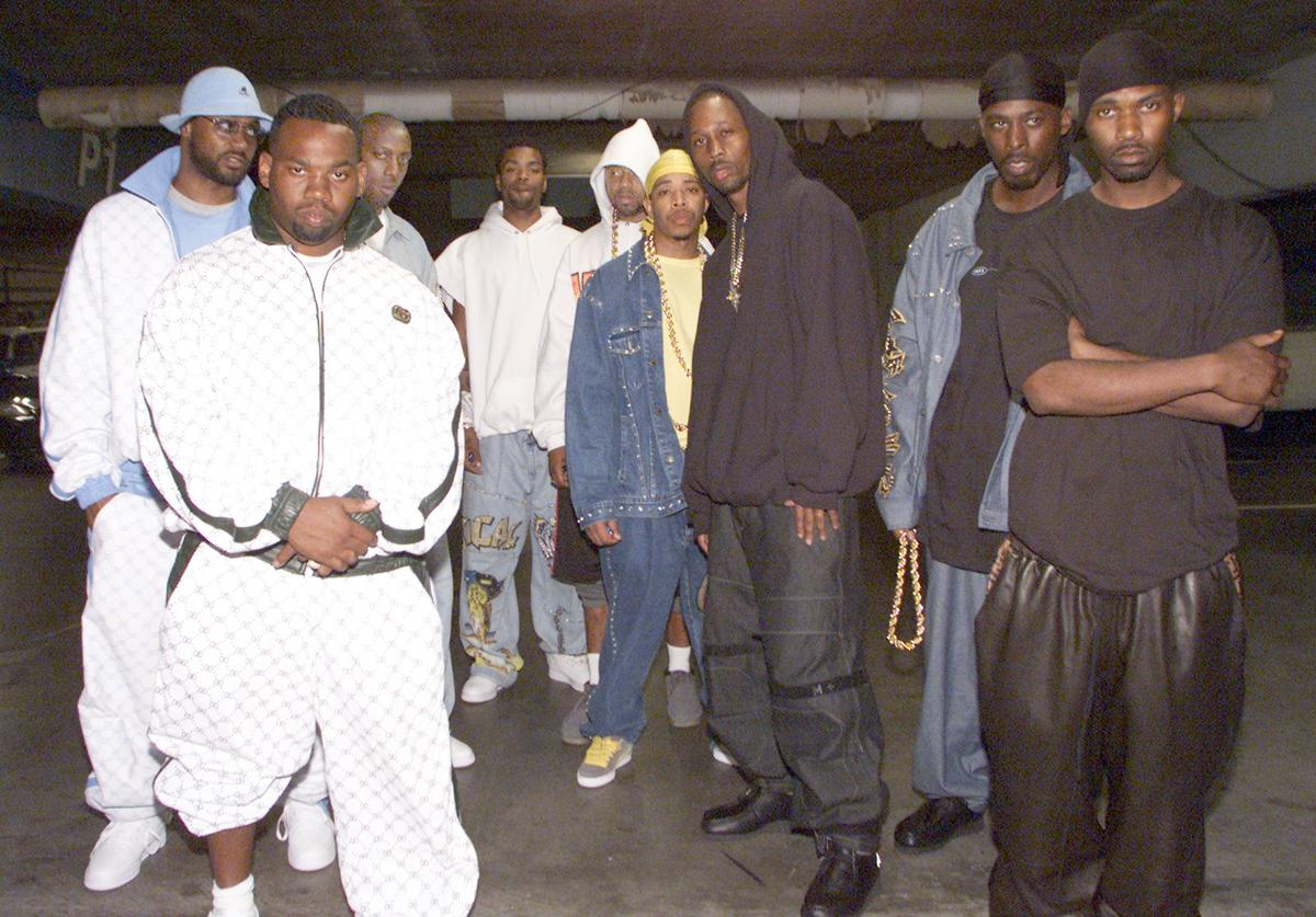 Wu Tang Clan at the filming of their new video in Los Angeles, Ca.