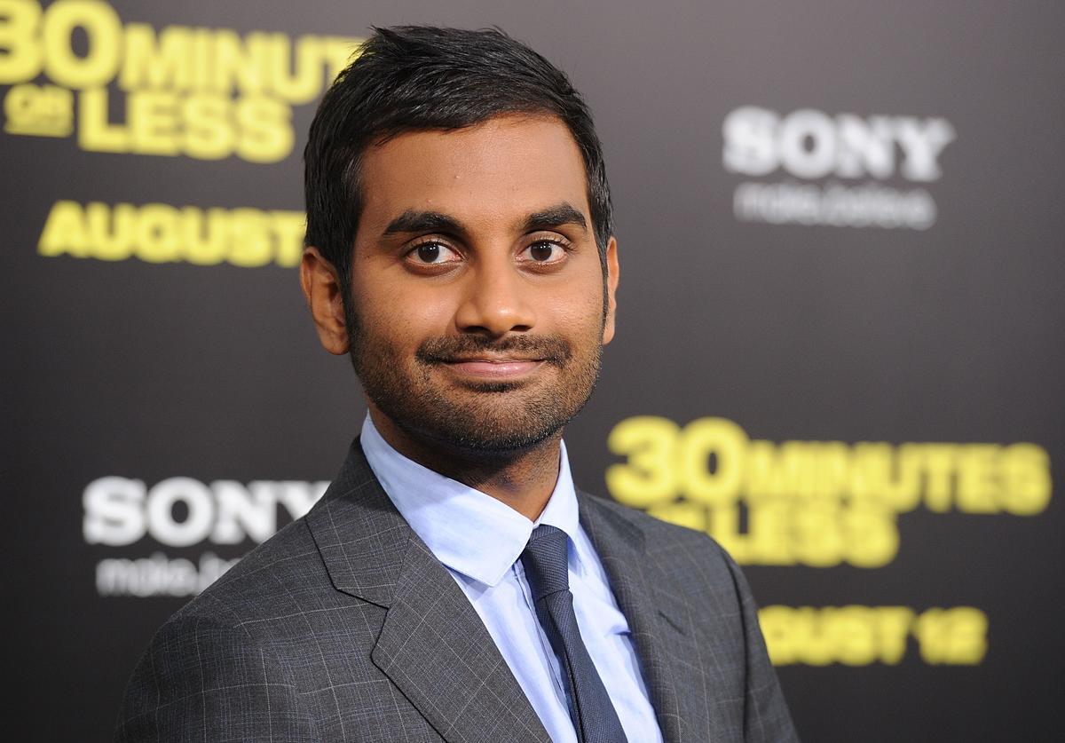 Aziz Ansari arrives at the premiere of Columbia Pictures' '30 Minutes Or Less' at Grauman's Chinese Theatre on August 8, 2011 in Hollywood, California